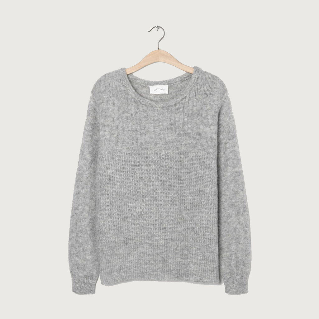 American Vintage Heather Grey East Jumper