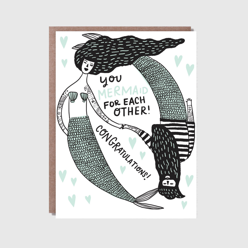 Hello! Lucky Mermaid For Each Other Greetings Card