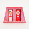 Product shot: INUWET Christmas Bunny Lip Balm Duo Set in packaging