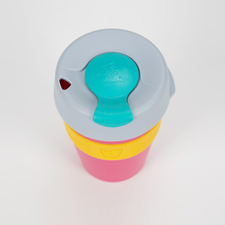 KeepCup Punk Pink Ice Mint Reusable Travel Cup 340ml - detail shot