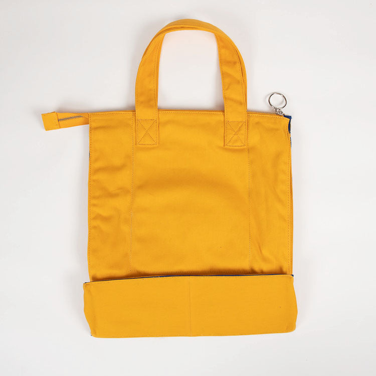 L.F. Markey Yellow Super Shopper - back view