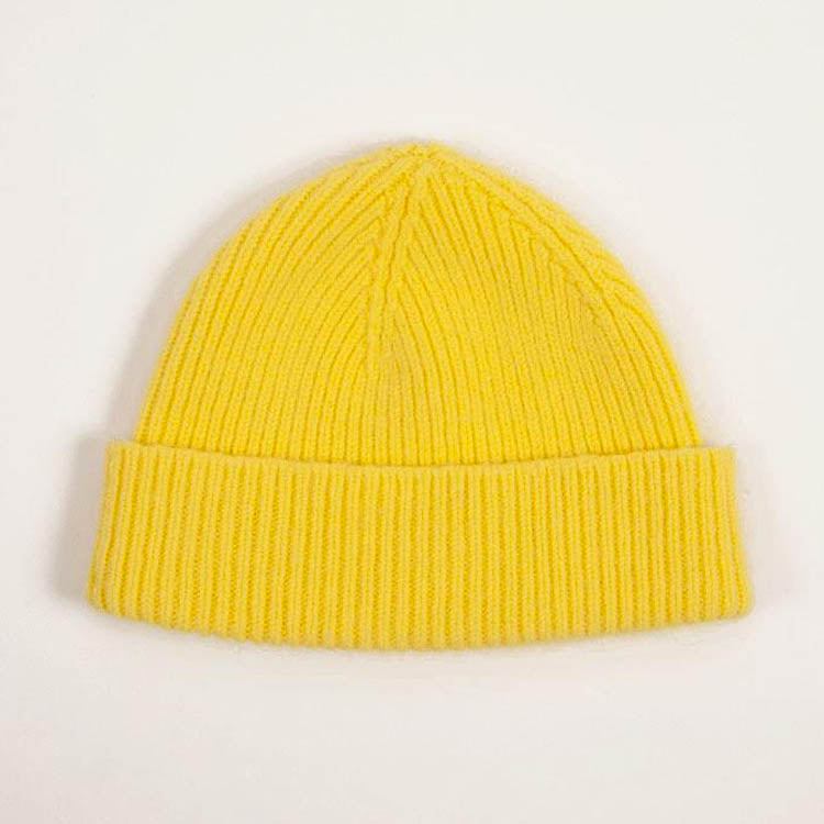 Product shot: Le Bonnet Acid Yellow Beanie Hat