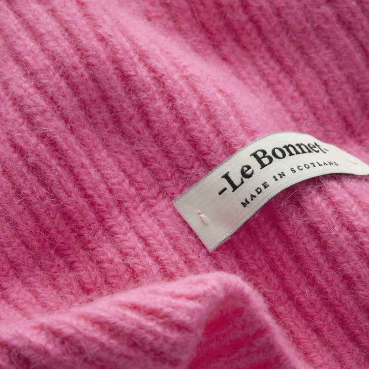 Le Bonnet Bubble Gum Pink Beanie Hat - detail