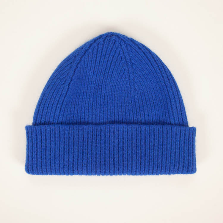 Product shot: Le Bonnet Royal Azure Beanie Hat