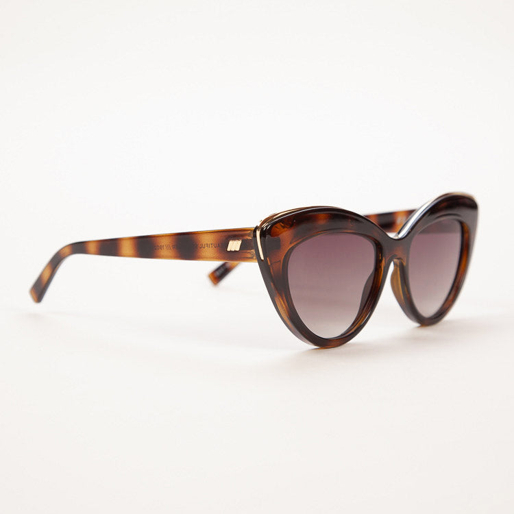 Product shot: Le Specs Beautiful Stranger Tort Sunglasses