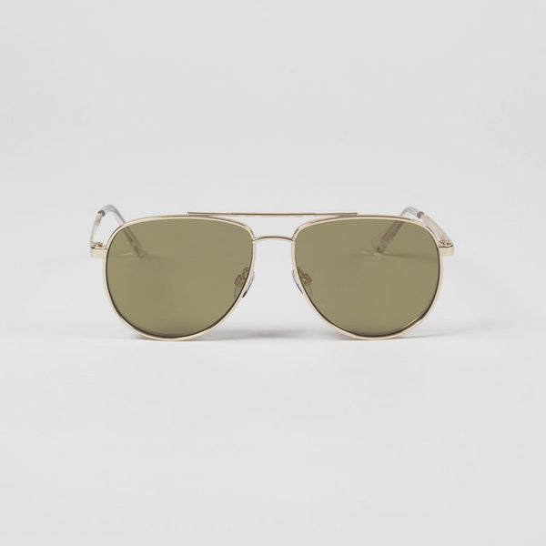 Product shot: Le Specs Hard Knock Bright Gold Sunglasses