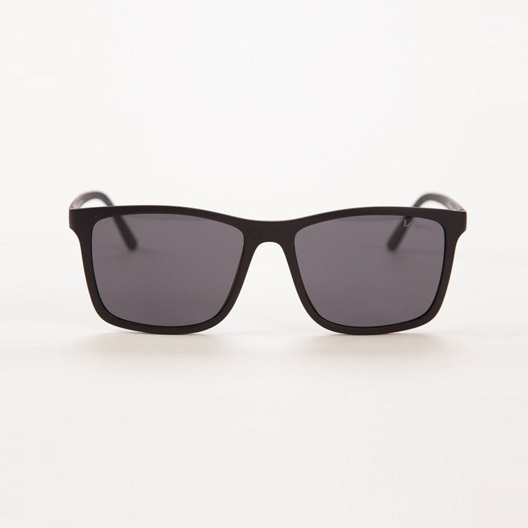 Product shot: Le Specs Master Tamers Matte Black Sunglasses