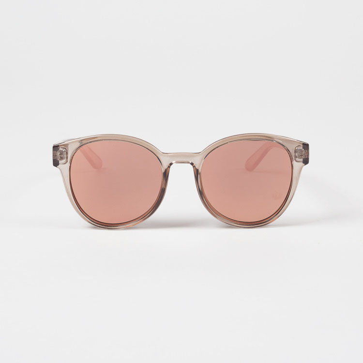 Product shot: Le Specs Paramount Tan Mirrored Sunglasses