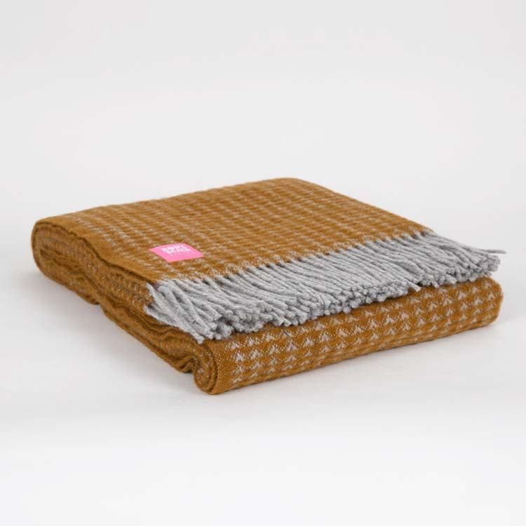 Lifestyle Treetop English Mustard Wool Throw