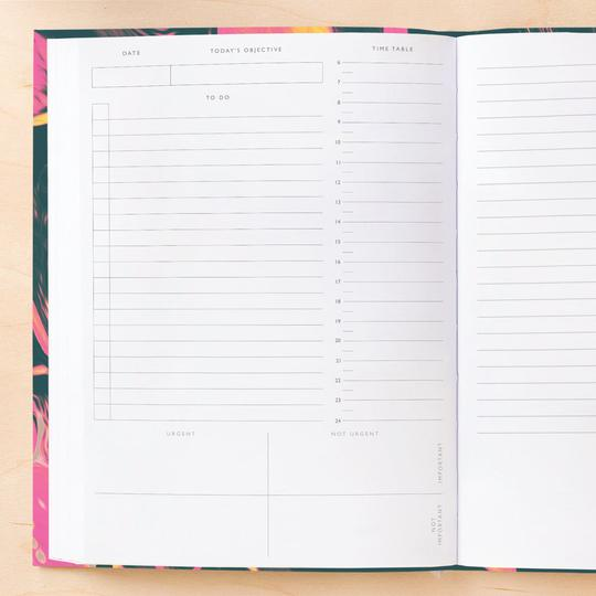 Ohh Deer Ultra Pink Marble Daily Planner