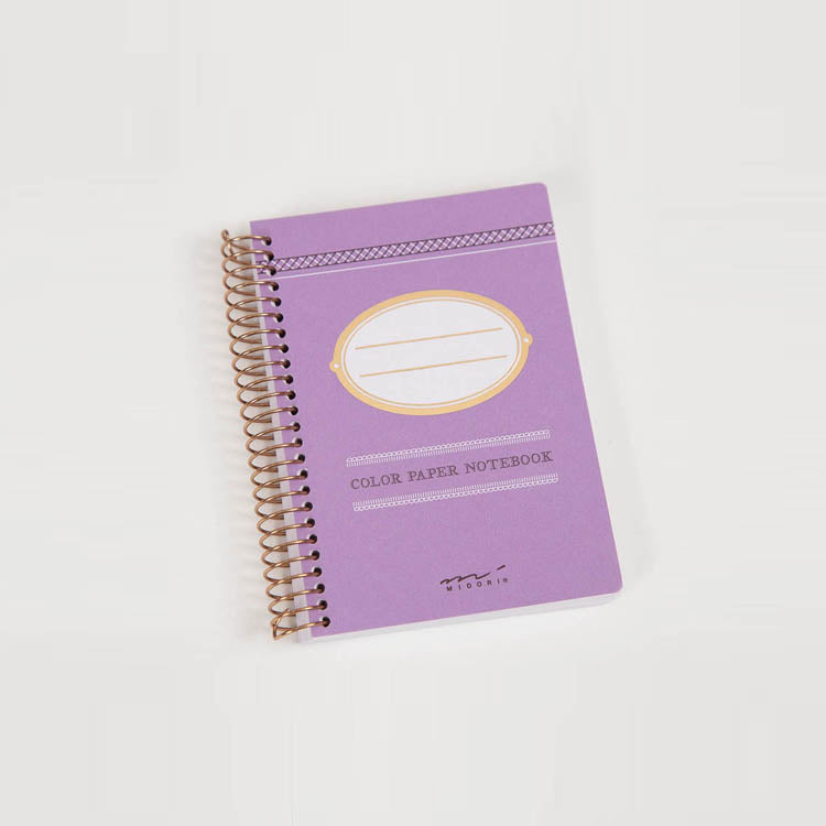 Midori Colour Paper Purple A7 Notebook
