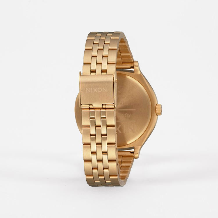 Product shot, back view: Nixon Clique Gold / Black / Silver Watch
