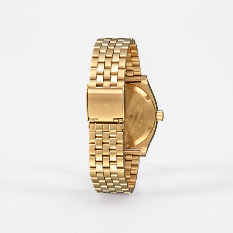 Product shot: Nixon Medium Time Teller Gold / White Watch - back view