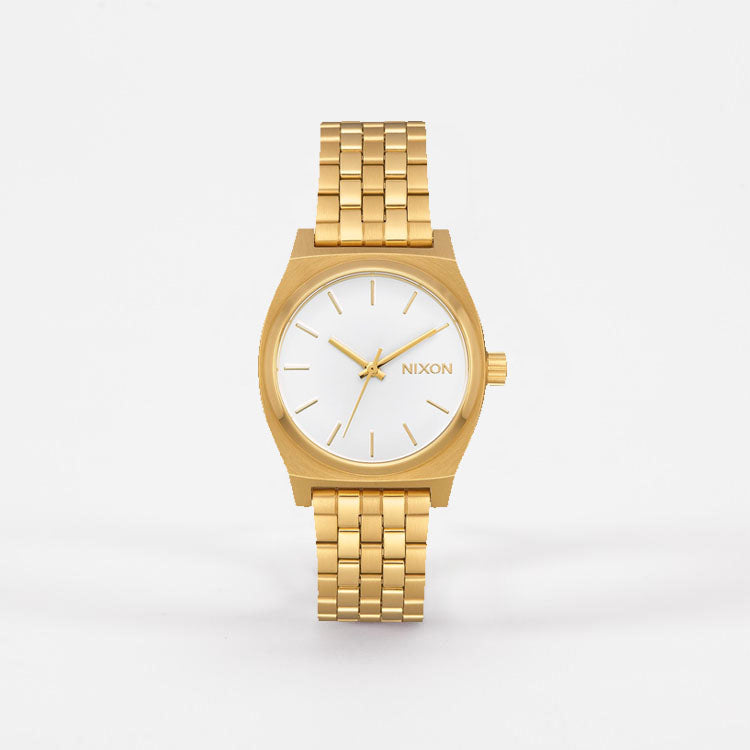 Product shot: Nixon Medium Time Teller Gold / White Watch - front view