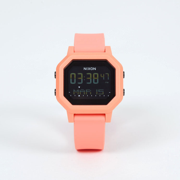 Product shot: Ladies Nixon Siren Light Tangerine Digital Watch