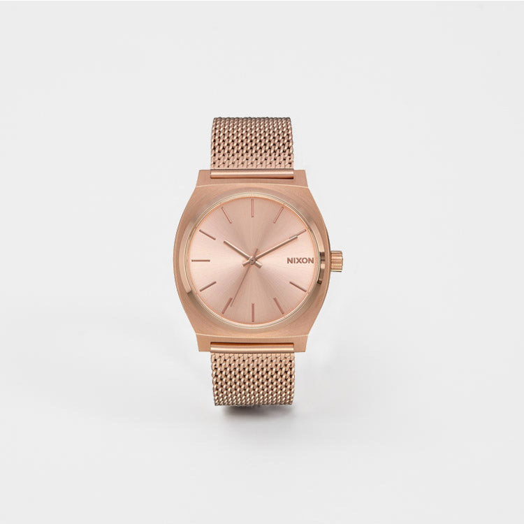 35344e901 Nixon Time Teller Milanese Rose Gold Watch | Roo's Beach