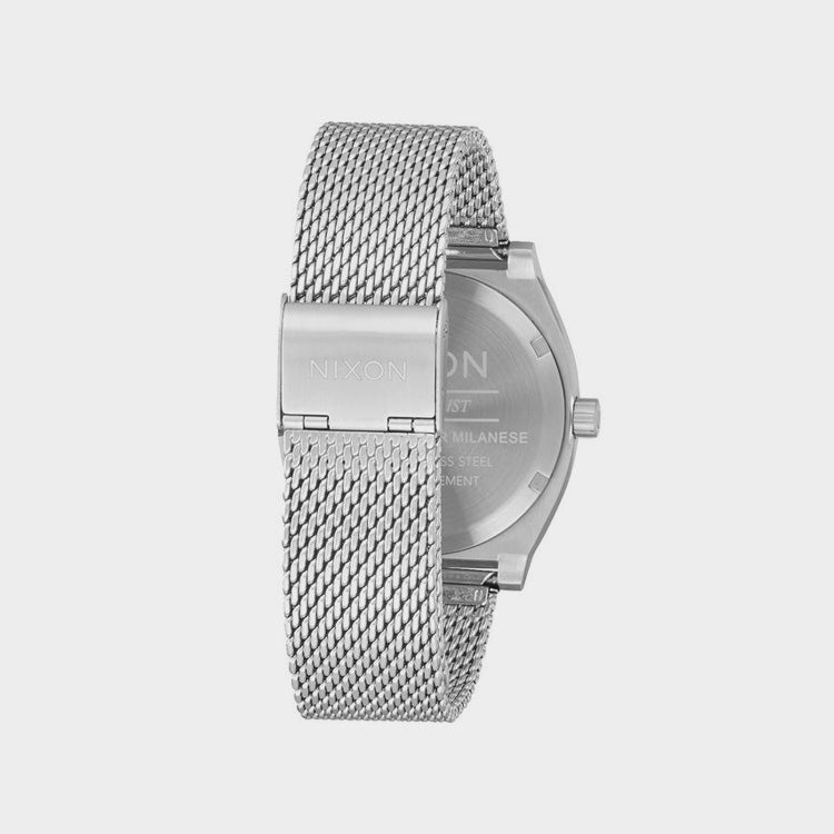 Nixon Time Teller Milanese Silver Watch