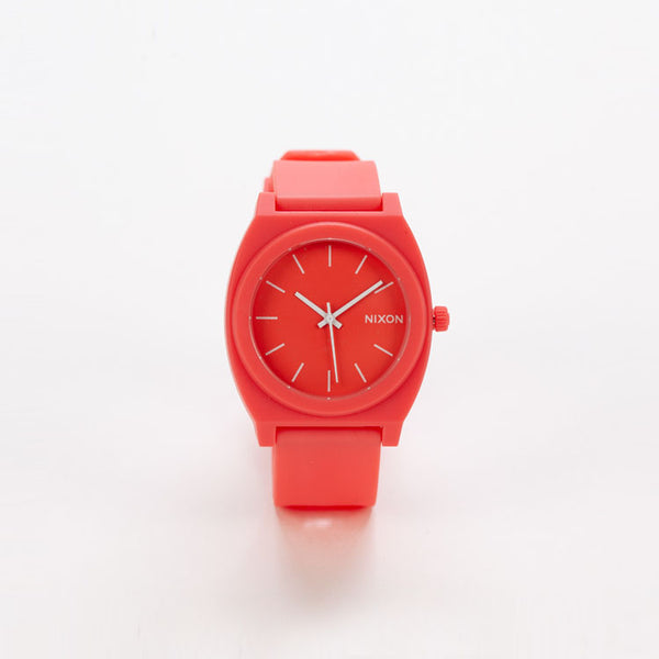 Product shot of Nixon Time Teller P Matte Coral Watch