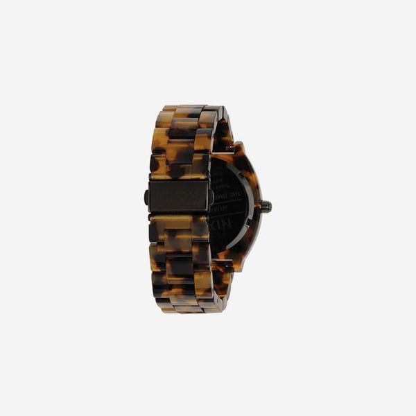 Nixon Tortoise Acetate Time Teller Watch - back view