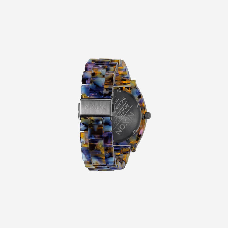 Product shot: Nixon Watercolour Acetate Time Teller Watch - back view