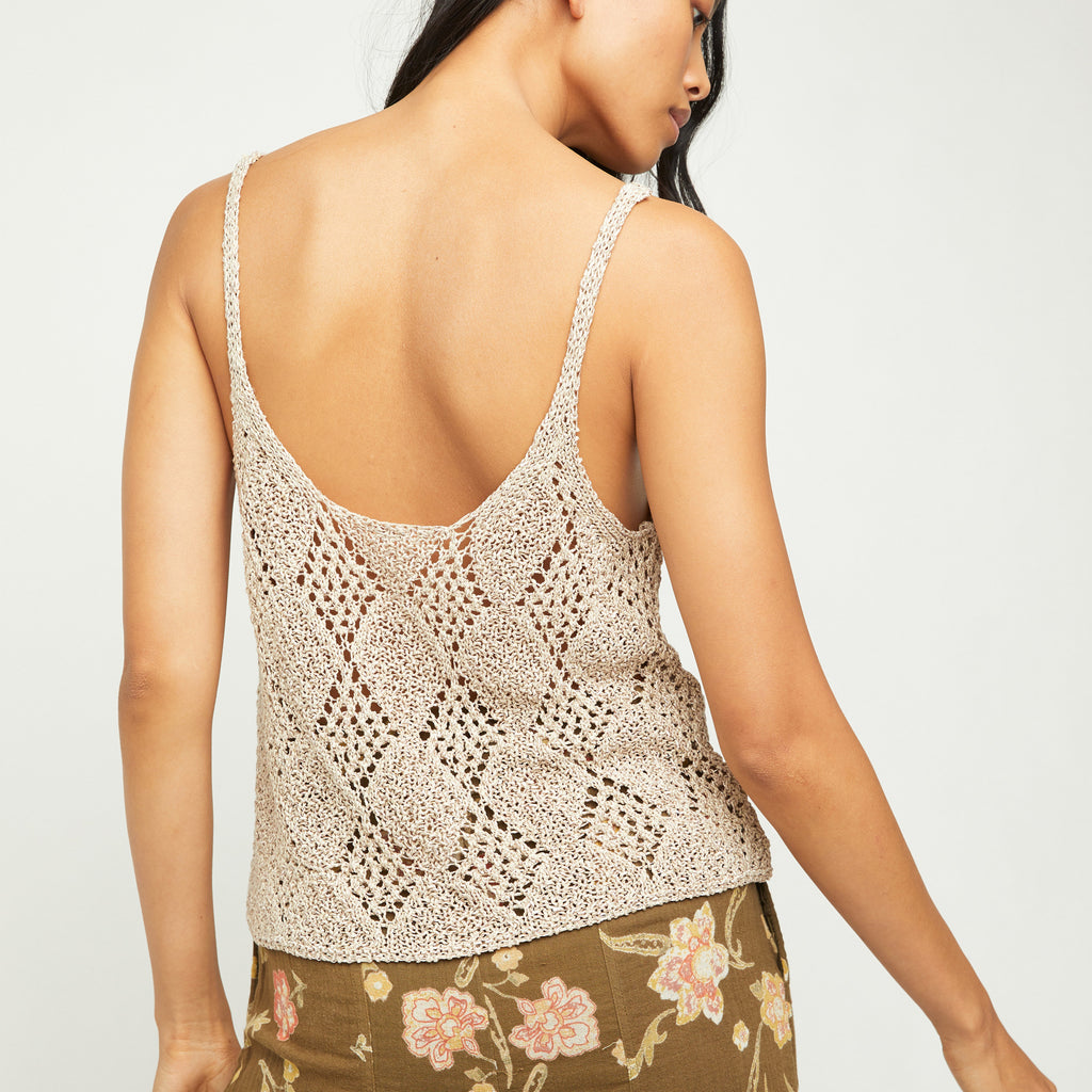 Free People Sea Shell Glisten Tank Top
