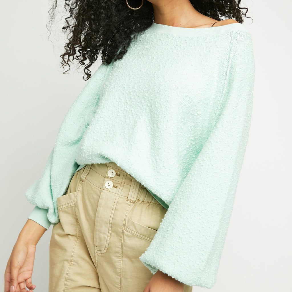 Free People Found My Friend Ocean Lily Sweatshirt