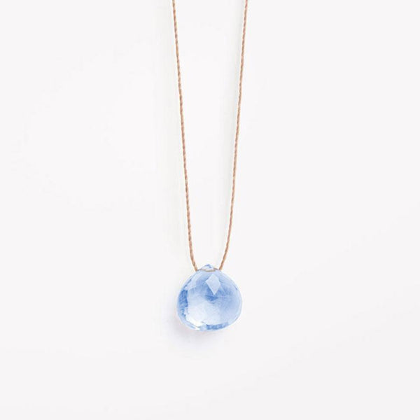 Wanderlust Life Pale Blue Quartz Necklace