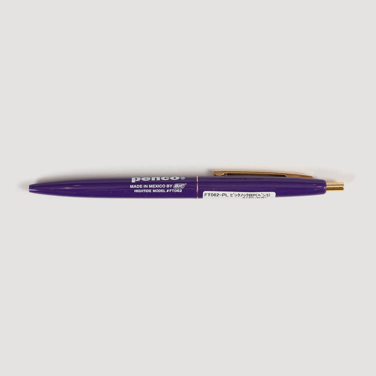 Penco BIC Clic Ballpoint Purple Pen