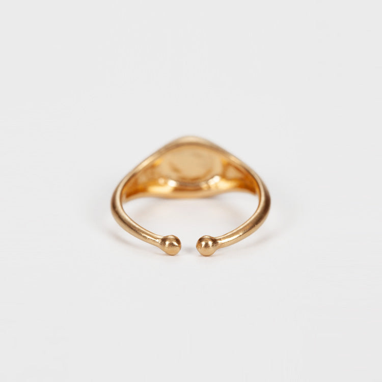 Detail shot: Product shot: Pernille Corydon Daylight Vintage Gold Ring
