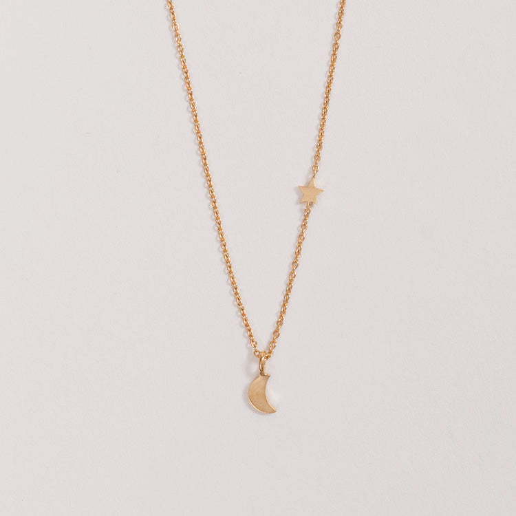Product shot of the Pernille Corydon Luna Star Gold Necklace