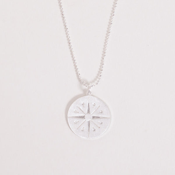 Detail shot of the Pernille Corydon Silver Cicerone Pendant Necklace