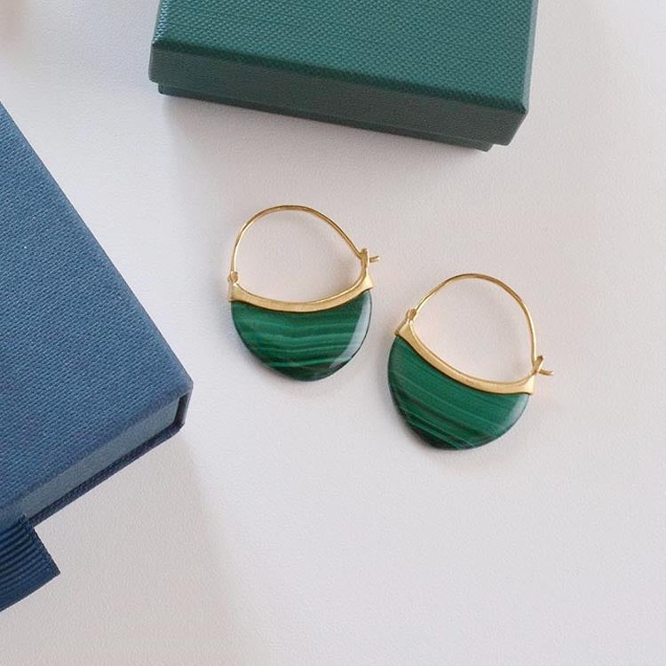 Pernille Corydon Small Malachite Earrings