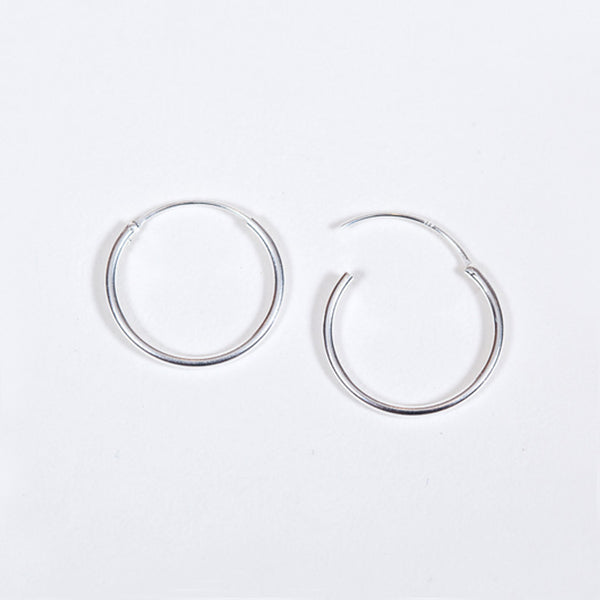 Pernille Corydon Sterling Silver Mini Plain Hoop Earrings