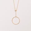 Product shot of Pernille Corydon Corona Long Gold Necklace