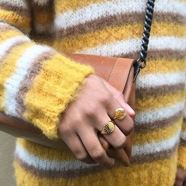 Model wearing the Pernille Corydon Leopard Ring