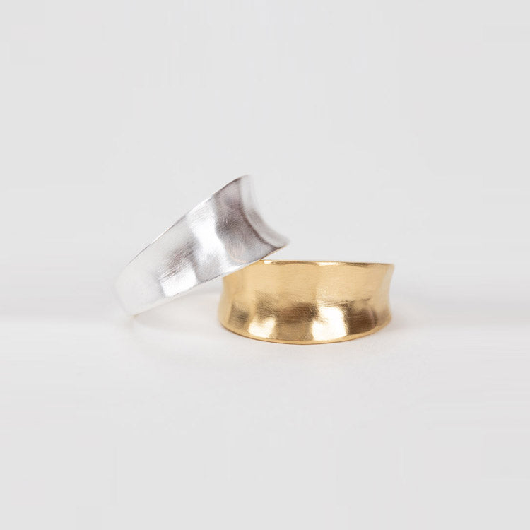 A gold and silver Pernille Corydon Saga Rings