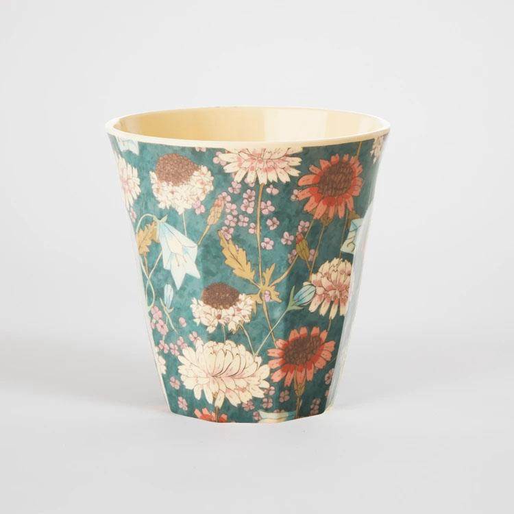 RICE Medium Fall Flower Print Melamine Cup