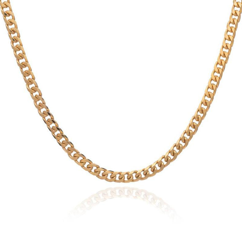 Rachel Jackson Boyfriend Curb Chain Gold Necklace