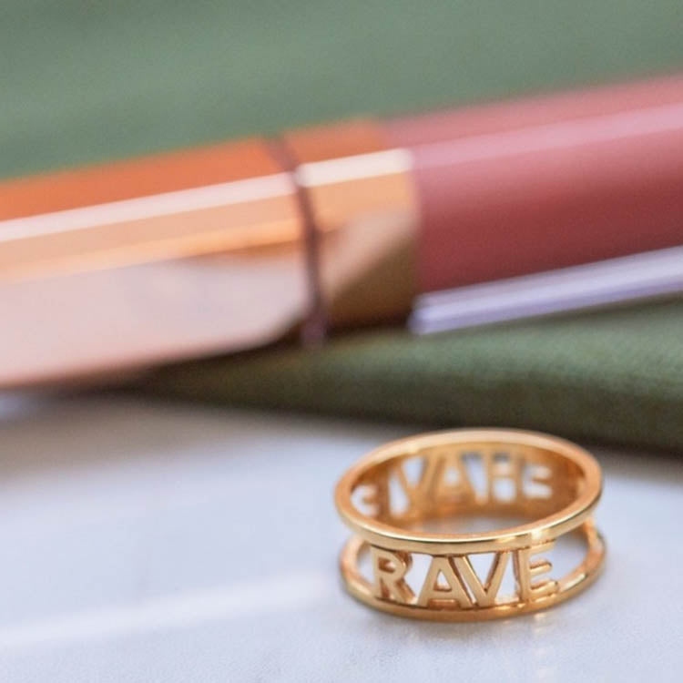 Lifestyle shot of the Products shot: Rachel Jackson Rave Behave Gold Ring
