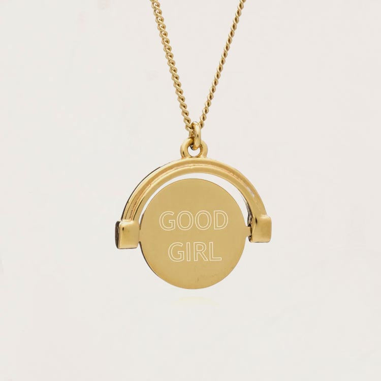 Rachel Jackson Good Girl / Bad Girl Gold Spinner Necklace