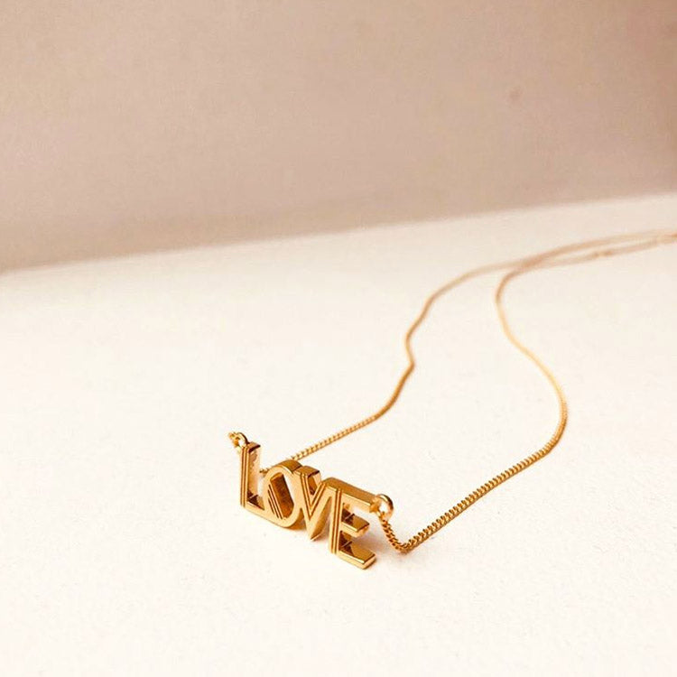Product shot: Rachel Jackson Love Gold Necklace