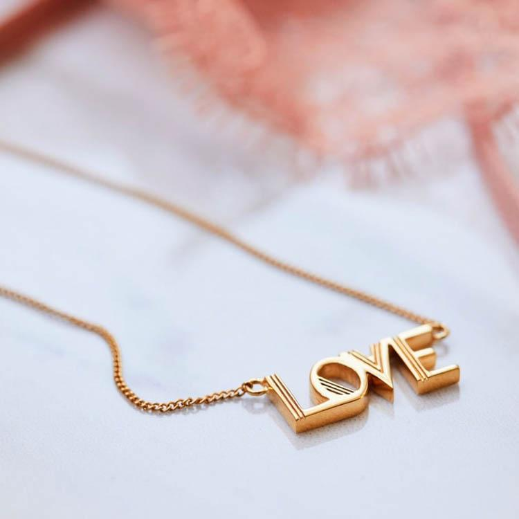 Rachel Jackson Love Gold Necklace