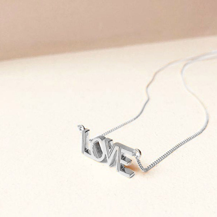 Product shot: Rachel Jackson Love Silver Necklace
