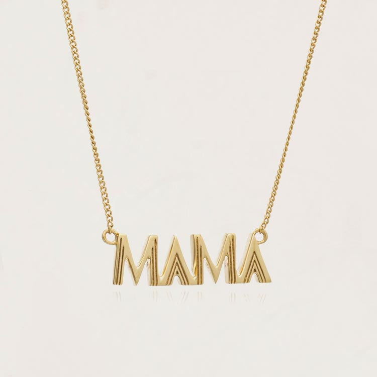 Rachel Jackson Mama Art Deco Gold Necklace