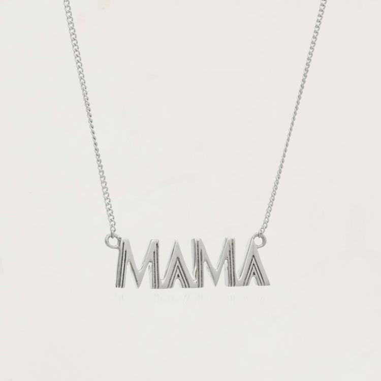 Rachel Jackson Mama Art Deco Silver Necklace