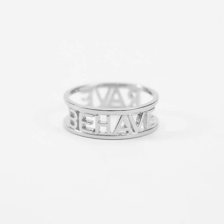 Rachel Jackson Rave Behave Silver Ring
