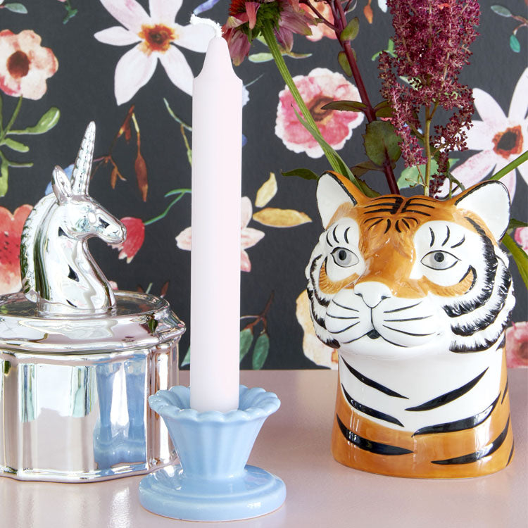 Lifestyle shot of the Rice Tiger Ceramic Vase
