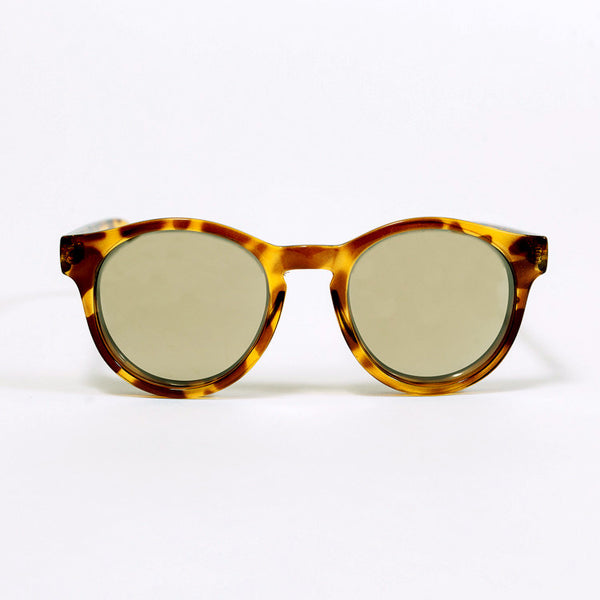 Le Specs Hey Macarena Syrup Tort Sunglasses - front facing on white background