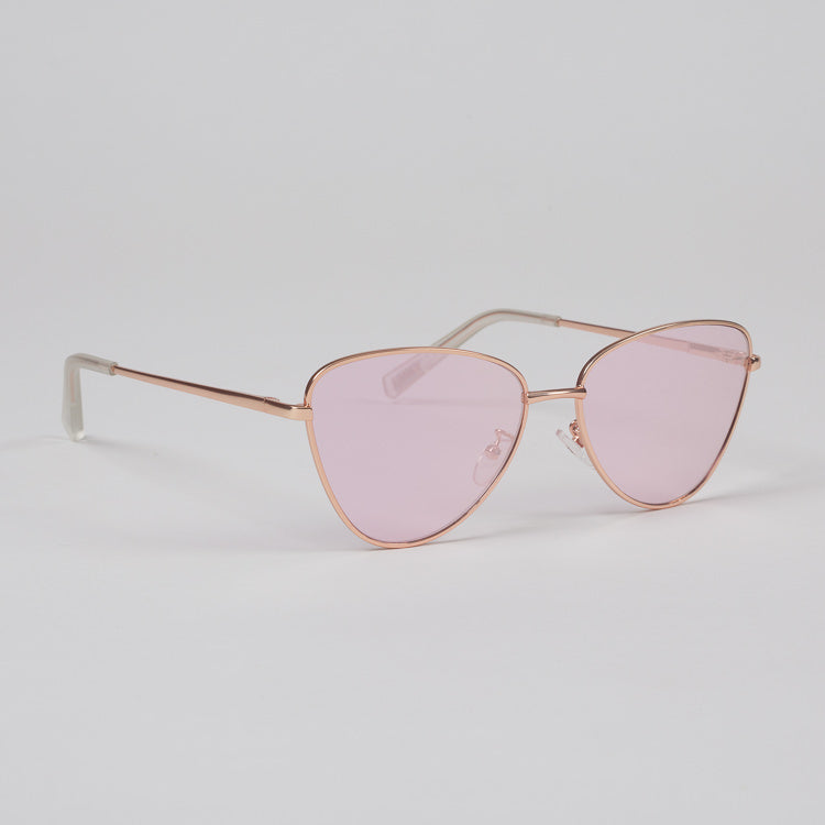 Product shot: Le Specs Echo Matte Rose Gold Sunglasses