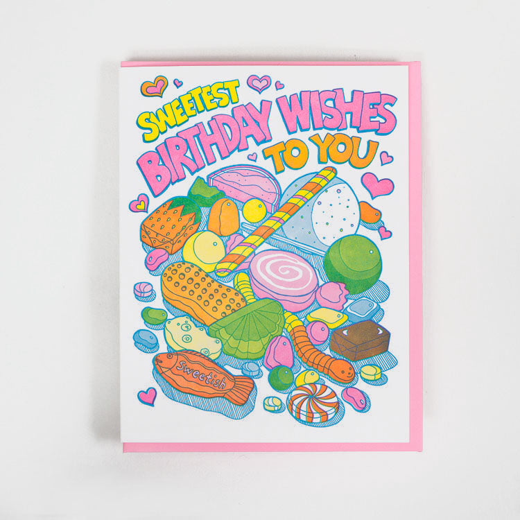 Product shot: Lucky Horse Press Sweetest Birthday Wishes Candy Greetings Card